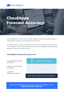 CloudApps Forecast Accuracy