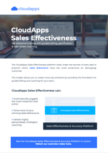 CloudApps Sales Effectiveness