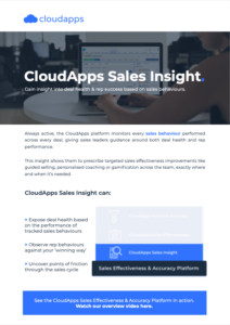 CloudApps Sales Insight